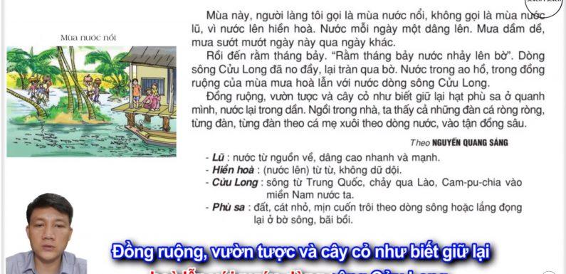 Mùa nước nổi – Lớp 2 – Tuần 20 – Trang 19 – Tiếng Việt 2 tập 2