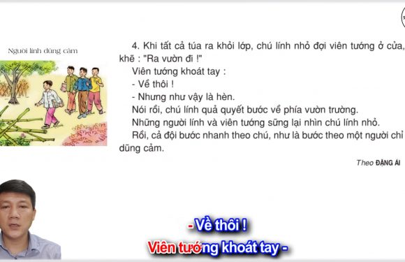 Người lính dũng cảm – Lớp 3 – Tuần 5 – Trang 38 – Tiếng Việt 3 tập 1
