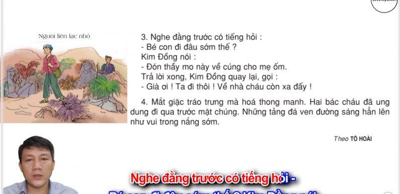 Người liên lạc nhỏ – Lớp 3 – Tuần 14 – Trang 112 – Tiếng Việt 3 tập 1