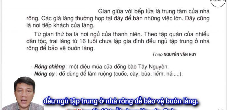 Nhà rông ở Tây Nguyên – Lớp 3 – Tuần 15 – Trang 127 – Tiếng Việt 3 tập 1