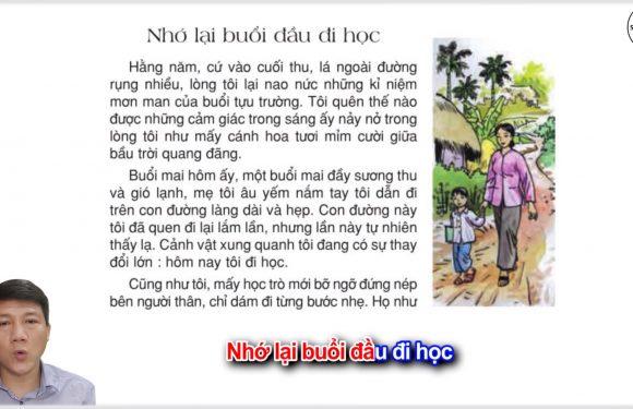 Nhớ lại buổi đầu đi học – Lớp 3 – Tuần 6 – Trang 51 – Tiếng Việt 3 tập 1