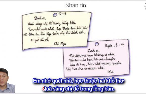 Nhắn tin – Lớp 2 – Tuần 14 – Trang 115 – Tiếng Việt 2 tập 1