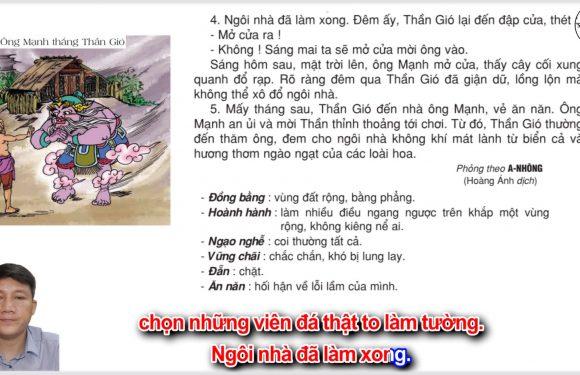 Ông Mạnh thắng Thần Gió – Lớp 2 – Tuần 20 – Trang 09 – Tiếng Việt 2 tập 2