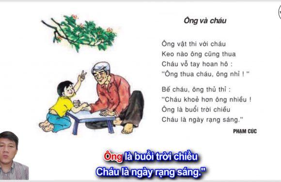 Ông và cháu – Lớp 2 – Tuần 10 – Trang 84 – Tiếng Việt 2 tập 1