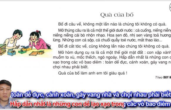 Quà của bố – Lớp 2 – Tuần 13 – Trang 106 – Tiếng Việt 2 tập 1