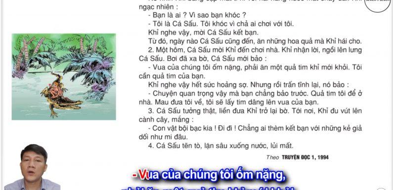 Quả tim khỉ – Lớp 2 – Tuần 24 – Trang 50 – Tiếng Việt 2 tập 2