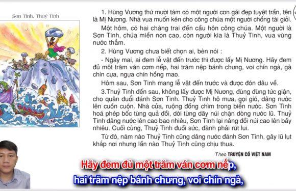 Sơn Tinh, Thủy Tinh – Lớp 2 – Tuần 25 – Trang 60 – Tiếng Việt 2 tập 2