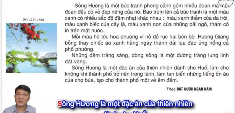 Sông Hương – Lớp 2 – Tuần 26 – Trang 72 – Tiếng Việt 2 tập 2