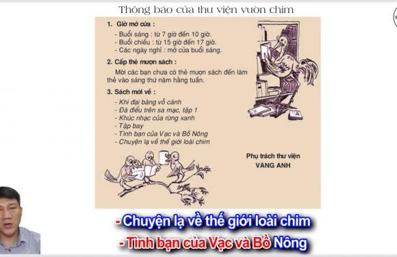 Thông báo của thư viện vườn chim – Lớp 2 – Tuần 21 – Trang 26 – Tiếng Việt 2 tập 2
