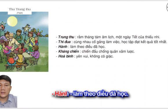 Thư Trung thu – Lớp 2 – Tuần 19 – Trang 07 – Tiếng Việt 2 tập 2