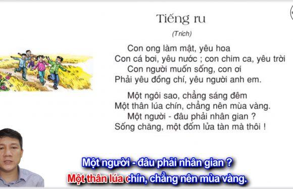 Tiếng ru – Lớp 3 – Tuần 8 – Trang 64 – Tiếng Việt 3 tập 1