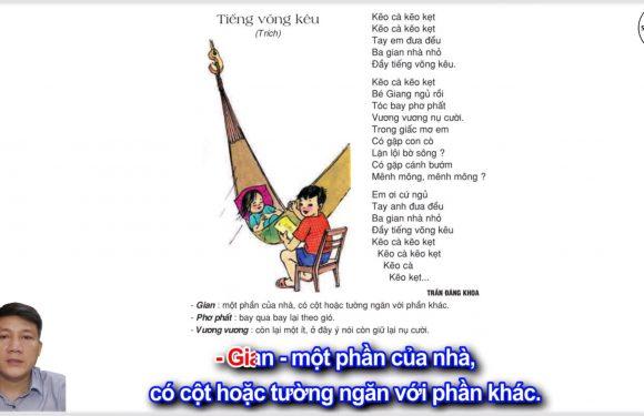 Tiếng võng kêu – Lớp 2 – Tuần 14 – Trang 117 – Tiếng Việt 2 tập 1