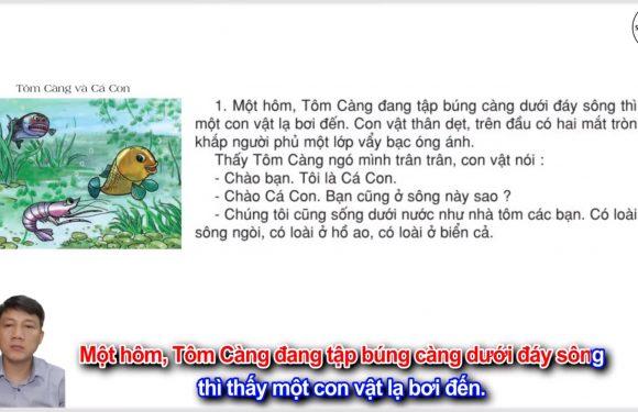 Tôm Càng và Cá Con – Lớp 2 – Tuần 26 – Trang 68 – Tiếng Việt 2 tập 2