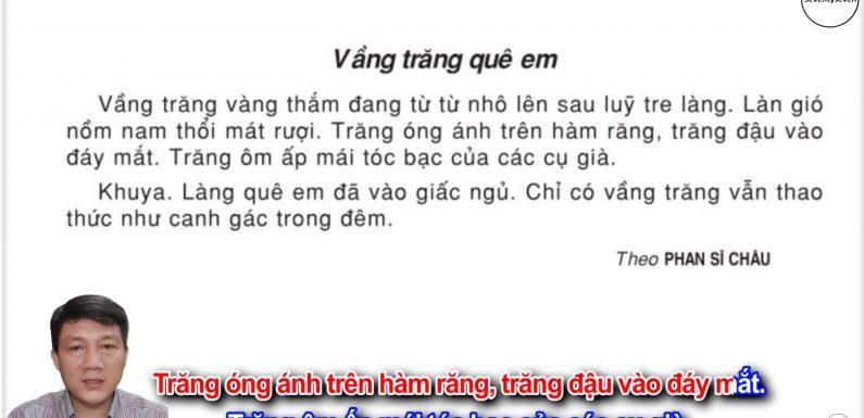 Vầng trăng quê em – Lớp 3 – Tuần 17 – Trang 142 – Tiếng Việt 3 tập 1