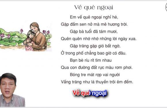 Về quê ngoại – Lớp 3 – Tuần 16 – Trang 133 – Tiếng Việt 3 tập 1