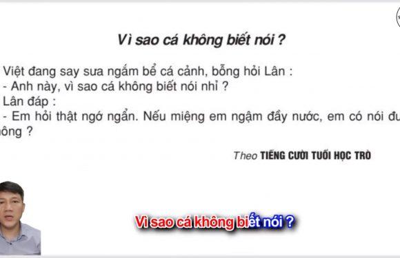 Vì sao cá không biết nói – Lớp 2 – Tuần 26 – Trang 71 – Tiếng Việt 2 tập 2
