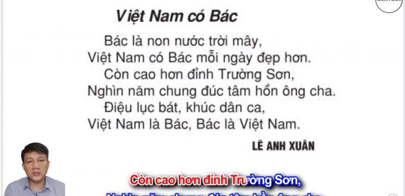 Việt Nam có Bác – Lớp 2 – Tuần 31 – Trang 109 – Tiếng Việt 2 tập 2