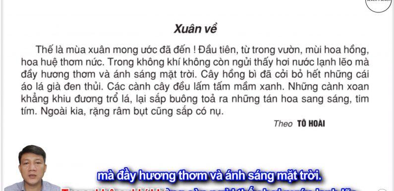 Xuân về – Lớp 2 – Tuần 20 – Trang 21 – Tiếng Việt 2 tập 2