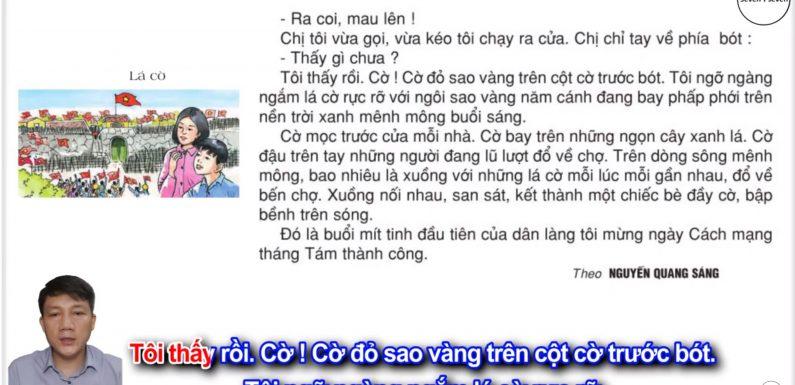 Lá cờ – Lớp 2 – Tuần 33 – Trang 128 – Tiếng Việt 2 tập 2