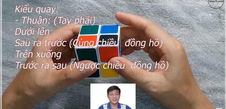 Giải Rubik 2 tầng chỉ bằng một kiểu quay